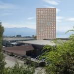 Vu du parc de la Violette (photomontage CBL)