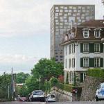 Vu de l'avenue Jomini (photomontage de la Ville)